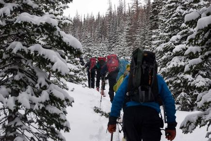 Hiking at the Diamond with Diamond Peaks Ski Patrol